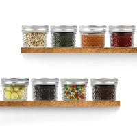 40pc Kitchen Storage Jar Glass Jar Salad Jam Sealed Mason Jar Anti-rust Cover Split Cover Erasable Blackboard Sticker Pen Spoon