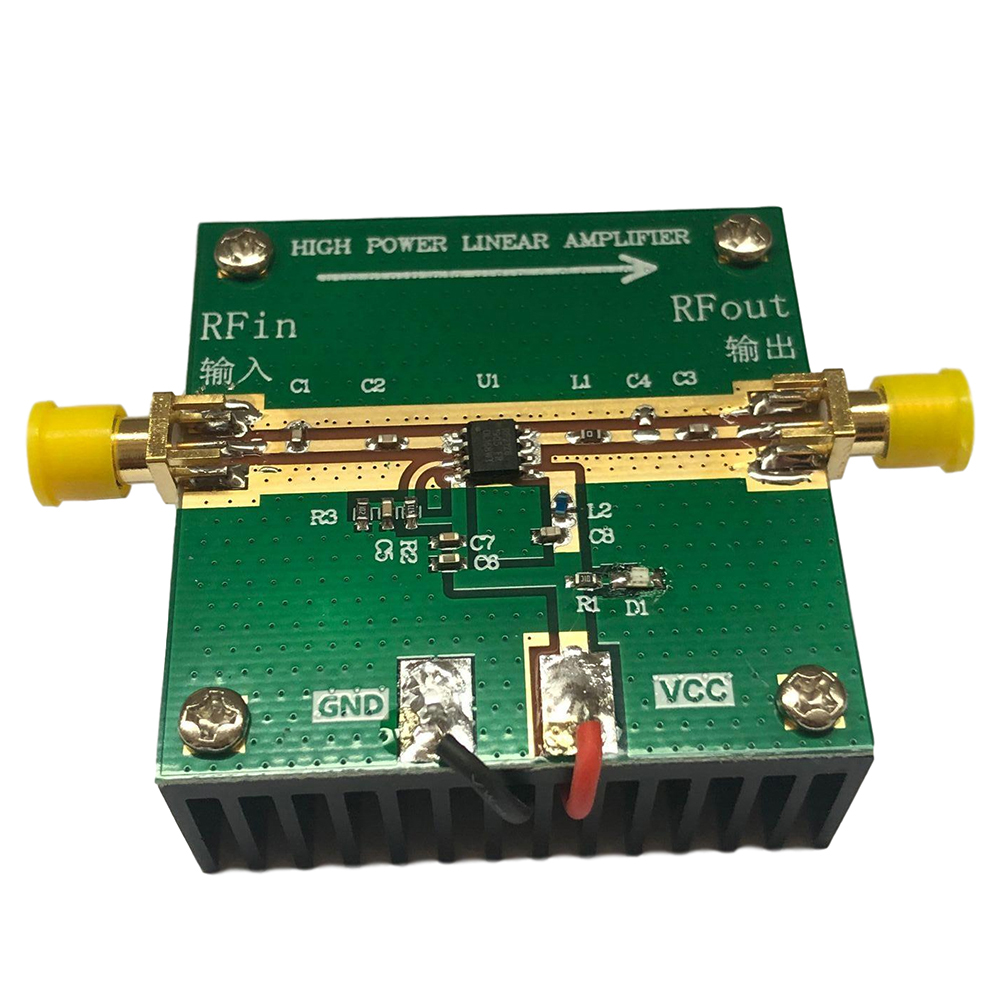 RF2126 400MHZ-2700MHZ Broadband RF Power Amplifier 2.4GHZ 1W Ham Radio Amplifier for WiFi Bluetooth Radio Accessories