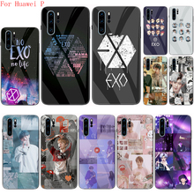 Чехол EXO band k-pop из закаленного стекла для Huawei P10 P20 P30 Lite P40 Pro Plus P40 Lite E P Smart Z Plus, задняя крышка