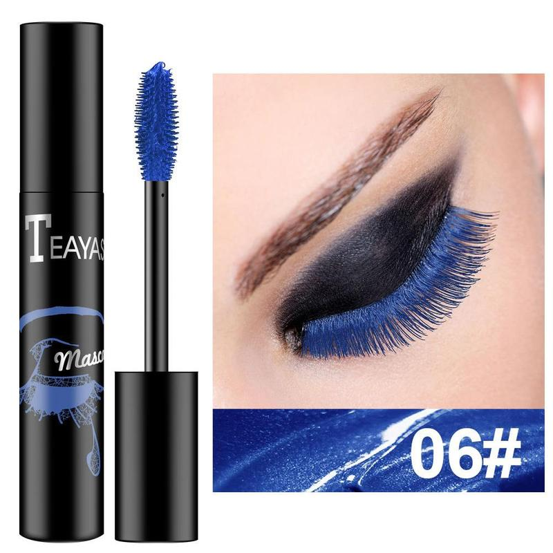 Color Mascara Waterproof And Quick Dry Not Blooming Blue Purple Gold Black Curling Lengthen Long Eyelash Color Mascara