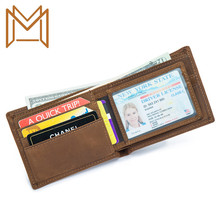 Man Genuine Leather Wallet Business Affairs Wallet Head Layer Cowhide Wallet Crazy Horsehide Wallet Short Cross Section Wallet