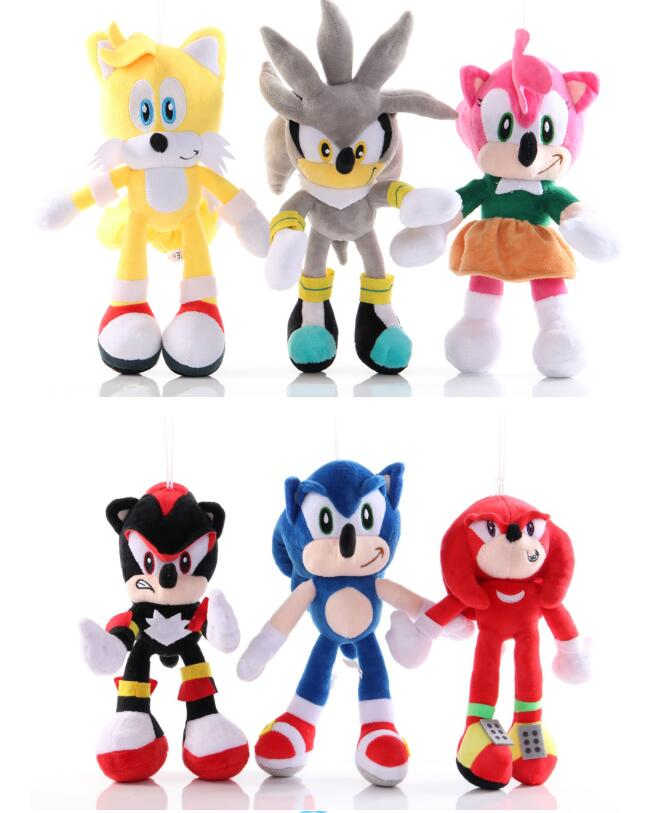 2020 18-30cm Newest Anime Super Sonic Plush Toys The Hedgehog Tails Ultimate Flash Fox Plush Toys Cute Stuffed Animals