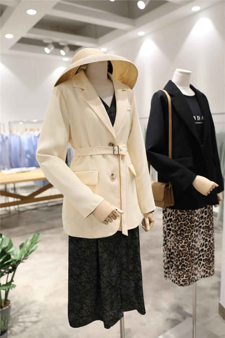 Suit Loose Coat Woman Chalaza England Wind Man's Suit 2019 Shoulder Small Loose Jacket