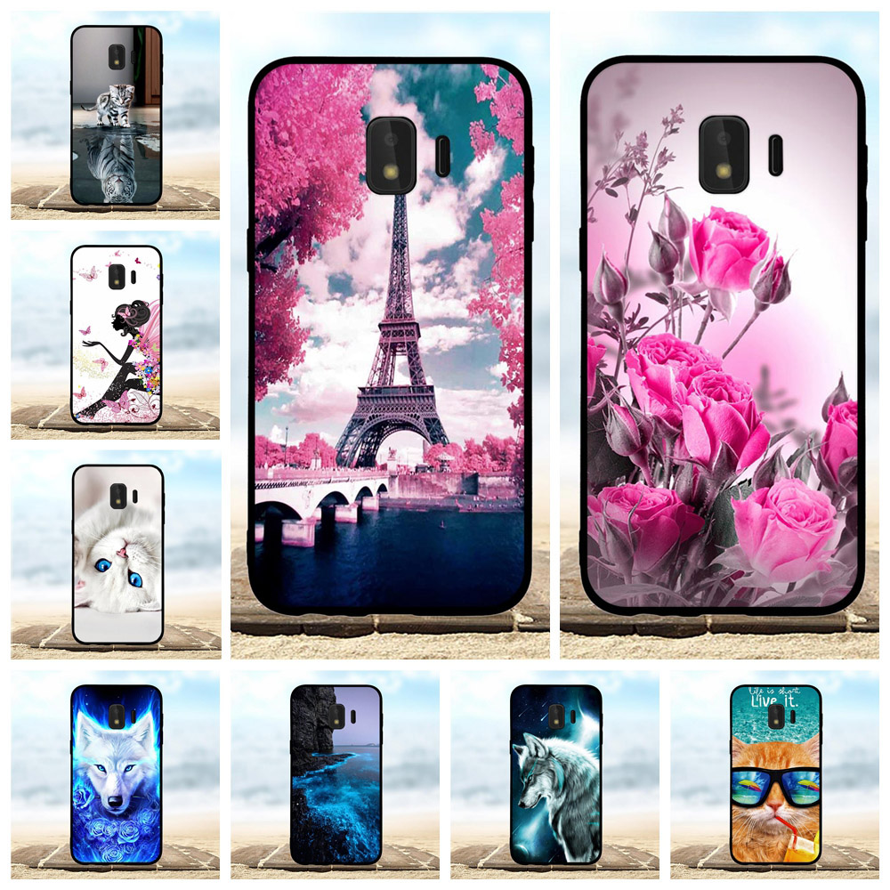 For Samsung Galaxy J2 Core Case Soft TPU SM-J260F Cover Animal Pattern Bag