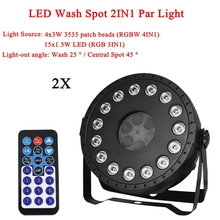 2Pcs/Lot NEW LED Disco Ball Party Light 30W Wash Spot 2IN1 Par For Birthday Decorations Home DJ Club Bar Lights