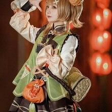 Game Genshin Impact YaoYao Cosplay Costume Women Cute Lolita Dress Lovely Uniform Yao Yao Anime Suit Halloween Carnival Outfit