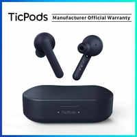 TicPods Бесплатная истинная Беспроводная Bluetooth наушники в ухо обнаружения 18 часов Срок службы батареи Быстрая зарядка IPX5 водонепроницаемое се...