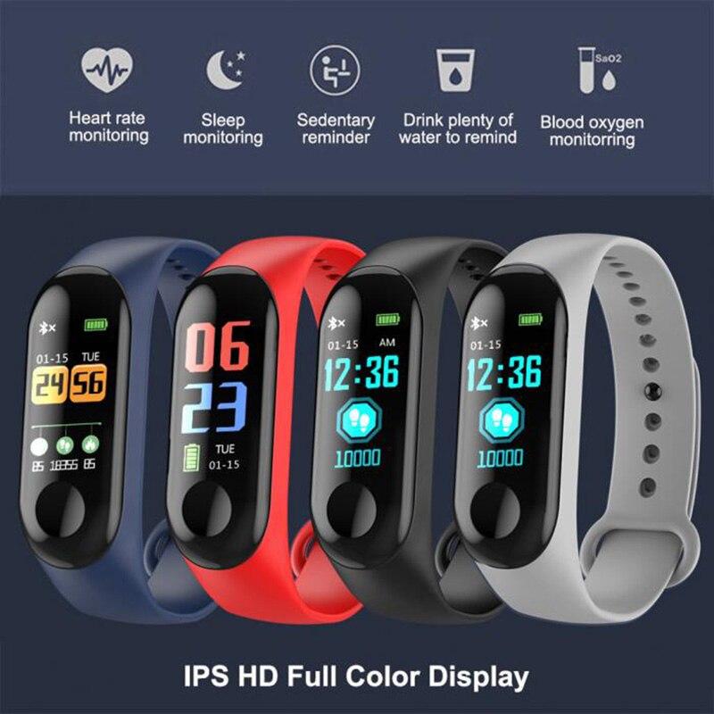 M3 inteligentny tracker zespół opaska monitorująca ciśnienie krwi tętno monitora krokomierz sport zdrowie bransoletka fitness dla android ios