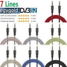 Стабильный AV кабель egygold clines для спутника ресивер gtmedia v8 nova v9 super 3.5 to AV Zugehua video cable TV network machine