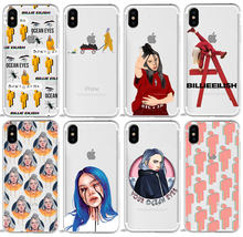 Billie Eilish Stickers dont smile at me cartoon phone Case For iPhone 7 7S 5S SE 6s 7 8 Plus X XR XS MAX Soft TPU Case(China)