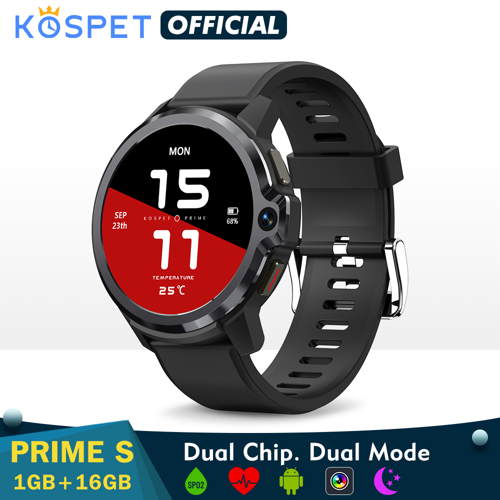 Permalink to Smartwatch 2021 KOSPET PRIME S 1GB 16GB Smart Watch Men Dual Mode Camera Bluetooth GPS 4G Android Smart Watch  IP67 Waterproof