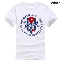 Men's BOXING ACADEMY CUBA t shirt Designing 100% cotton Round Collar male Cute Basic Summer Style Novelty shirt(China)