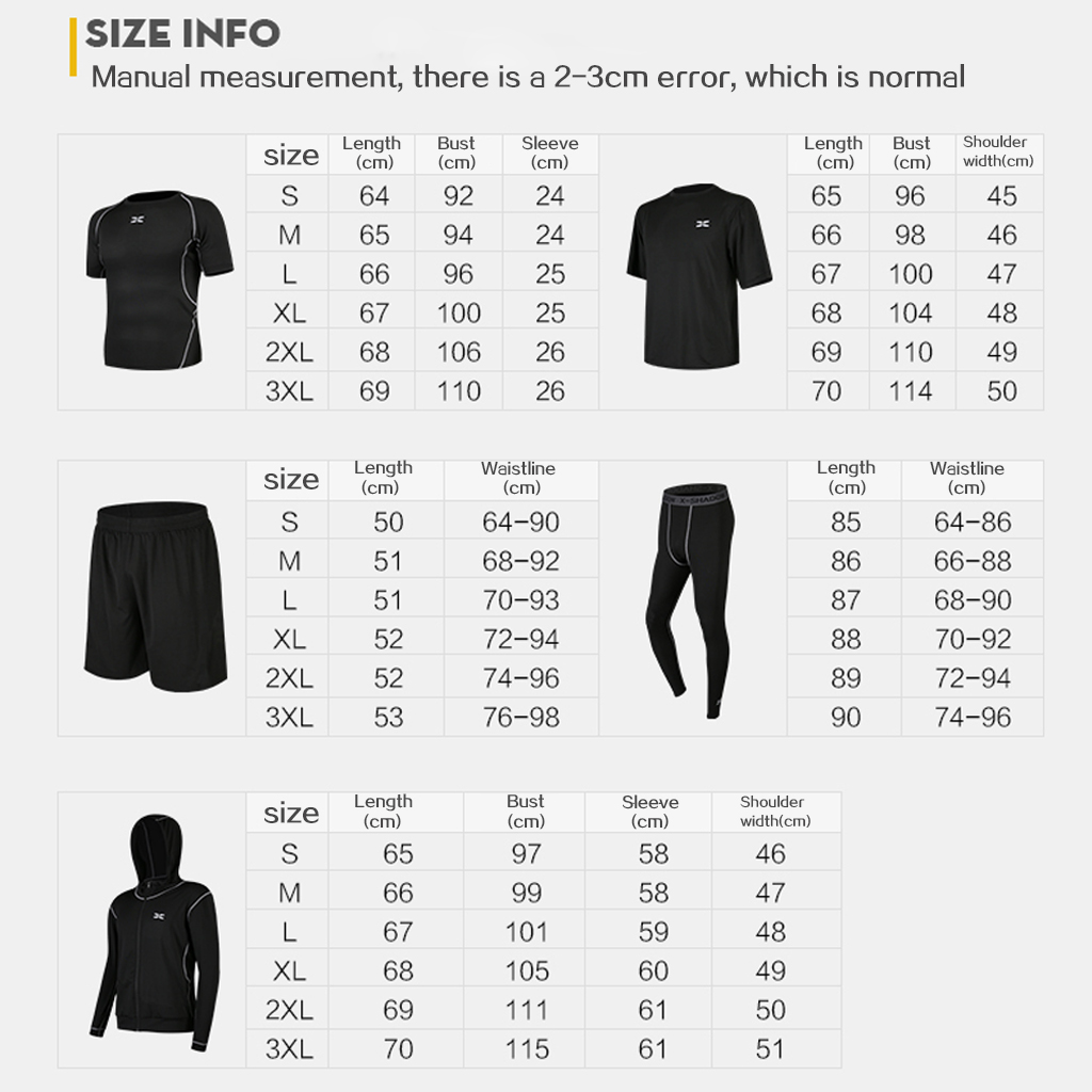 5 Pcs/Set Men's Tracksuit Gym Fitness Compression Sports Suit Clothes Running Jogging Sport Wear Exercise Workout Tights 6