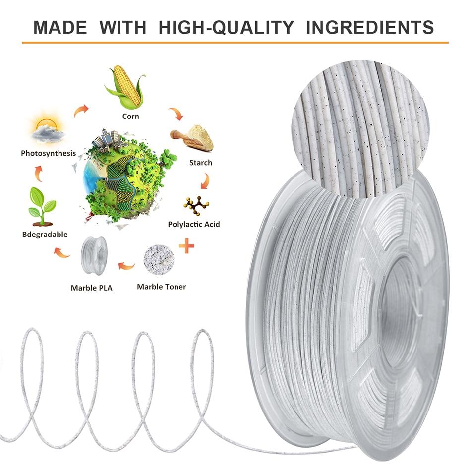 SUNLU PLA Marble Filament 4