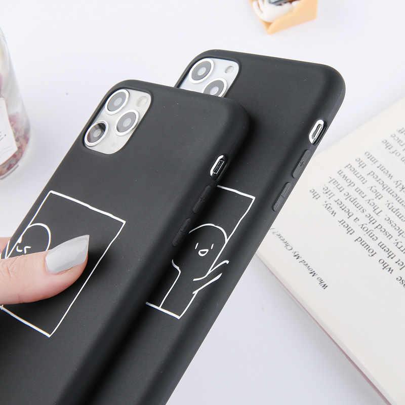 Lovebay de parejas funda de teléfono con corazón de amor para iPhone 11 Pro Max X XS X XR Xs Max suave TPU cubierta Simple para iPhone 6 6s 7 7 Plus