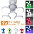 E27 4 лезвия шариковый складной светодиодный подвесной светильник потолочный светильник регулируемый угол лампы украшение дома 4 цвета 85-265 в...