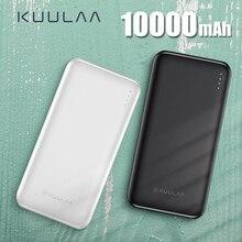 KUULAA Мощность Банка 10000 мА/ч, Мощность банк Портативный зарядки повербанк 10000 мАч Внешнее зарядное usb-устройство для аккумулятора для Xiaomi Mi 9 8 iPhone