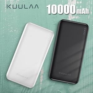 KUULAA power Bank 10000 мАч Портативная зарядка Poverbank 10000 мАч двойной USB тонкий внешний аккумулятор зарядное устройство для Xiaomi Mi 9 8 iPhone