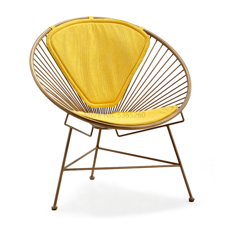 Nordic Modern Dining Chairs Iron Art Light Extravagant Ins For Sale Makeup Chair Cadeira Armchair Chair Cafe Chair Stoel