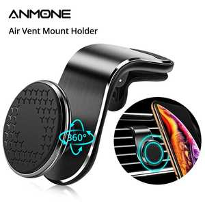ANMONE Car-Phone-Holder Car-Bracket Air-Outlet Navigation Metal Magnetic Universal iPhone11