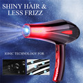 4000 Вт Профессиональный Дорожный фен - диффузор Электрический вращающийся фен для укладки волос для парикмахерского салона + насадка