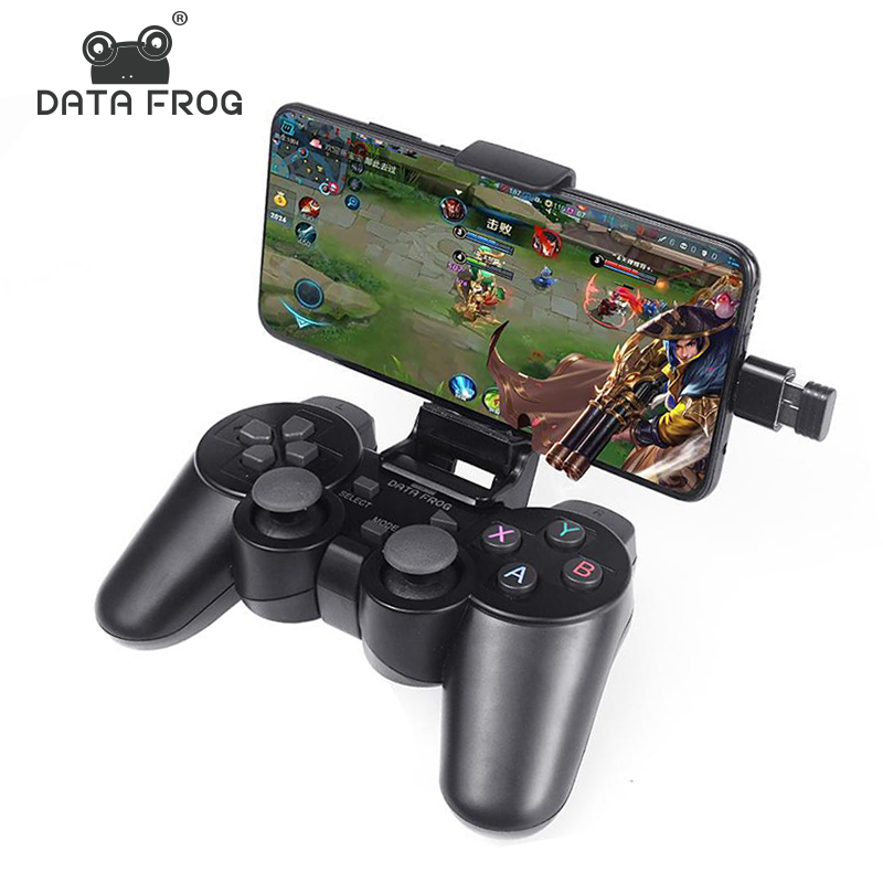 Data Frog Android Wireless Gamepad For Android Phone/PC/PS3/TV Box Joystick 2.4G Joypad Game Controller For Xiaomi Smart Phone