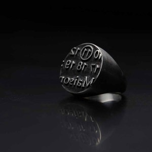 Punk Rock Retro Design Number Rings For Man Women Jewelry Stainless Steel Best Friend Party Lucky Gifts Bague Femme OSR554