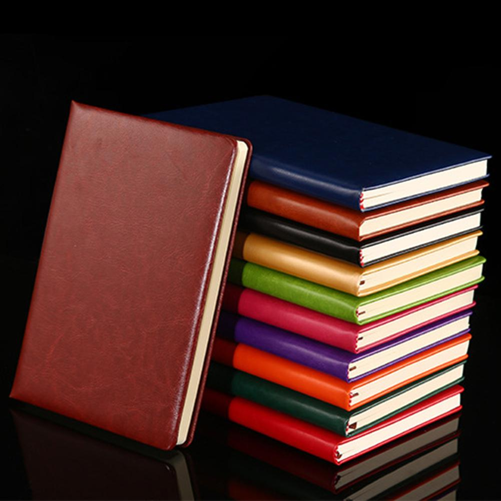 Faux Leather Portable Travel A5 Student Notebook Diary Notepad School Stationery