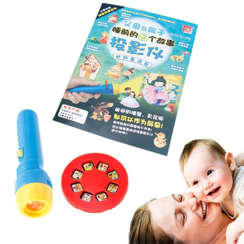 Fairy Tales Sleeping Story Light Projector Flashlight Toys Kids Educational Toy 57BF