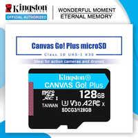 ¡Kingston de ir! Plus-tarjeta microSD de 128GB, 64GB, Class10, TF, 256GB, 512GB, UHS-1
