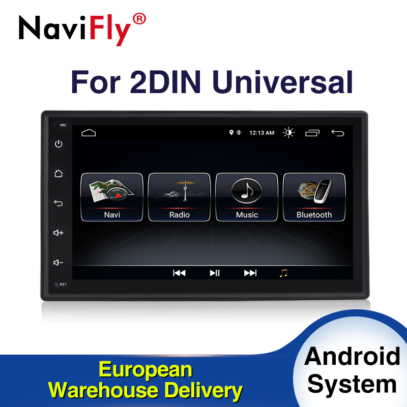 EU Tax Free Android8.1 Quad core <font><b>2Din</b></font> CAR dvd GPS navigator for Nissan Toyota Peugeot KIA with 4G wifi radio BT RDS image