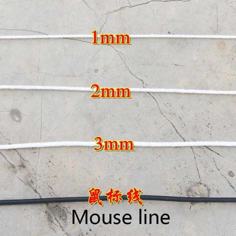 עמיד 200m לבן חוט כותנה טבעי בז 'מעוות כבל חבל קרפט מקרמה מחרוזת DIY בעבודת יד בית דקורטיבי אספקת 3mm