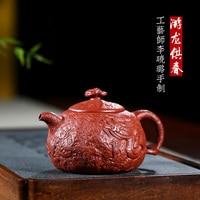 Chang tao 】 berühmte xiao lu li alle hand lila sand teekanne tee set für frühling 240 cc dahongpao-in Teekannen aus Heim und Garten bei