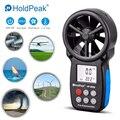 HoldPeak HP-866B Anemometro anémomètre numérique mesure de la vitesse du vent dispositif de vent portable avec sac de transport