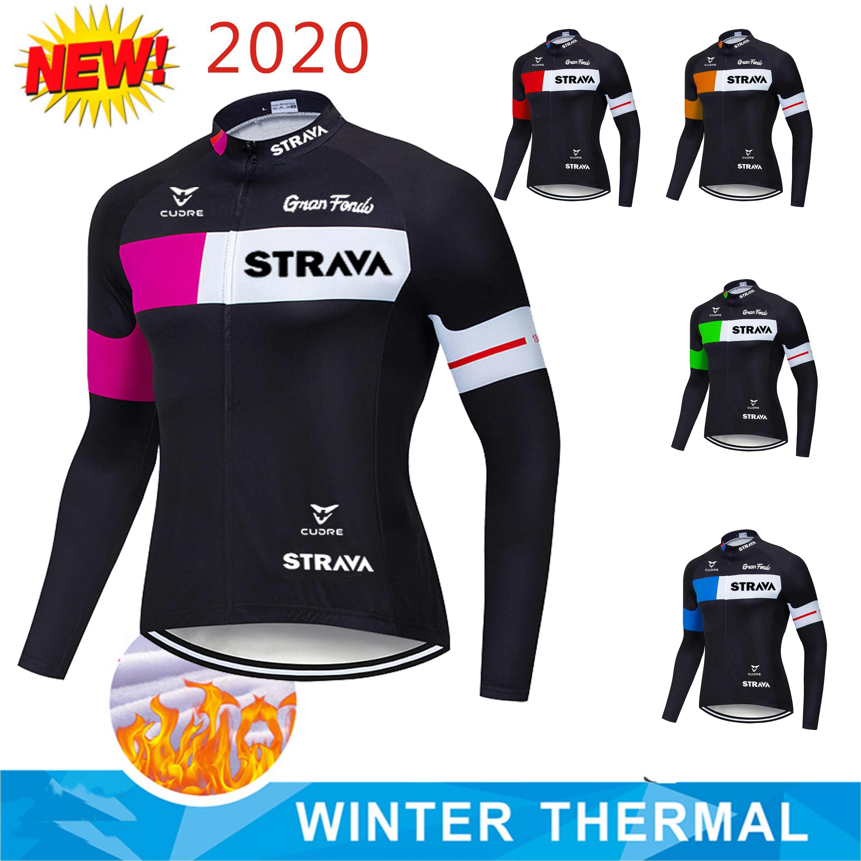 Hiver Maillot de cyclisme veste de vélo Pro Tight Shirt Haut à manches longues thermique polaire