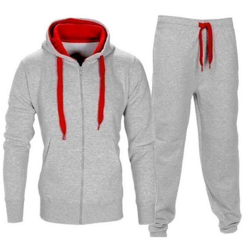 Men Set Hooded Sweatshirt Jacket+Pant Moleton Masculino Sets Tracksuit Male 2018 Autumn Fashion Mens Zipper Set 2PC