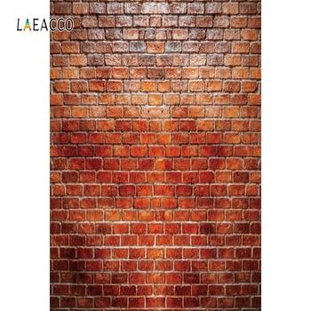 Laeacco Brick Wall Photophone Photography Backdrops Vinyl Backgrounds Vintage Grunge Retro Portrait Photocall For Photo Studio laeacco photography backdrops vintage gray white wall wedding party baby portrait photo backgrounds photocall photo studio