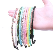 10Pcs/lot Korean Solid Glitter Hairband for Girls Women Fashion Shiny Candy Color Kids Headbands Hair Hoop Accessories