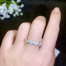 Moissanite piękne pierścieniem z gwintem, 925 Sterling srebrny pierścionek z diamentem. Moda biżuteria, małe diamenty
