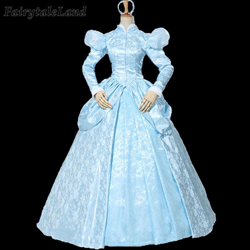 2020 Cinderella Costume Fancy Princess Dress Carnival Halloween Cosplay Cinderella Winter Suit Lace Up Corset Custom Made