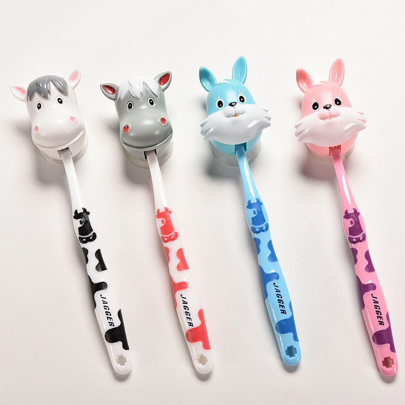 1 Pcs Lovely Cartoon Cows Rabbit Children's child toothbrush kid Toothbrush For little Boy Girl Tooth Brush Toddler Teethbrush image