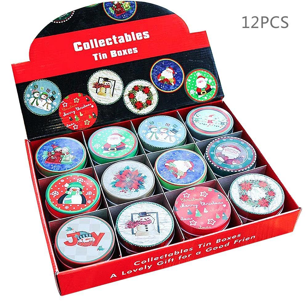 Noël anniversaire fer blanc boîte cadeau Multi fonction boîte pour bonbons boîte de rangement cadeaux de noël décoration de noël pour la maison
