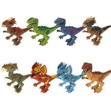Jurassic Park Tanystropheus Tyrannosaurus Rex Dinosaur World Assemble Building Blocks Models Toys for Children