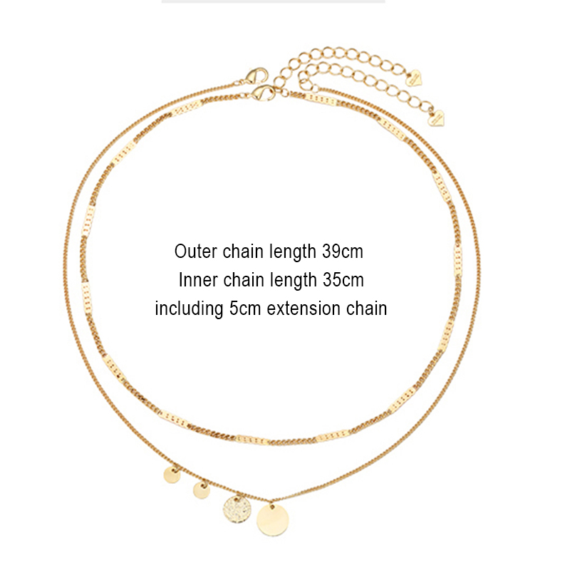 bohemian chain women jewelry gift choker necklace stainless steel necklace Punk multi-layer necklace Vintage pendant necklace
