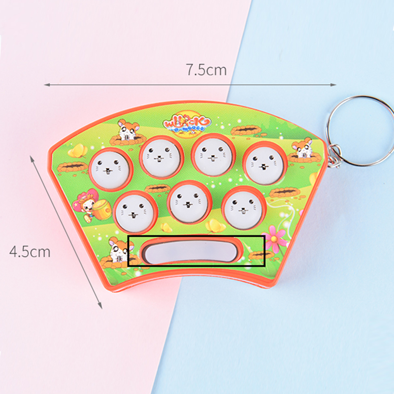New Fun Mini Gopher Children's Palm Hands-on Speed Game with Light Music Puzzle Kids Holiday Toy Gift