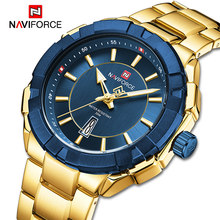 Top Luxury Brand NAVIFORCE Mens Watches Business Gold Quartz Wristwatch Military Sport Waterproof Clock Male Relogios Masculino(China)
