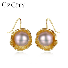 CZCITY 925 Sterling Silver 4A Freshwater Natural Pearl Drop