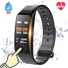 C1S Bluetooth Smart Bracelet Blood Pressure Heart Rate Monitor Fitness Tracker Waterproof Color Screen Wristband For Android IOS letike f1s fitness tracker color screen blood pressure smart bracelet heart rate monitor sleep tracker wristband for android ios