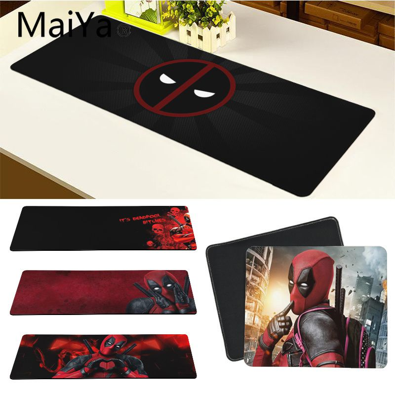 Maiya Top Quality Marvel Deadpool Laptop Computer Mousepad Free Shipping Large Mouse Pad Keyboards Mat
