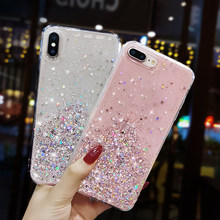 Glitter Bling Sequin Case Voor Oppo A9 2020 A3S A5 A7 A9 F5 F7 F9 F11 K3 K5 Relame X reno 10x A59 A83 A57 F1S Soft Cover(China)